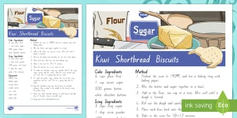 Treaty Treats Kiwi Shortbread Biscuits Recipe - Waitangi Day, Treaty of Waitangi, tiriti o waitangi, kiwi, kiwiana, recipes