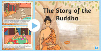 The Story of The Buddha PowerPoint  -  story of buddha, buddha, buddhism, story sequencing,buddism,budhism,buddism,story sequncing,squenci