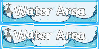 Water Area Sign - Classroom Area Signs, KS1, Banner, Foundation Stage Area Signs, Classroom labels, Area labels, Area Signs, Classroom Areas, Poster, Display, Areas, Water Area