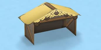 Nativity Paper Model Stable - nativity, paper, model, stable