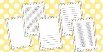 Smiley Pencil Portrait Page Borders - smiley, pencil, page border