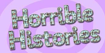 Horrible Histories Display Lettering-horrible histories, history, display lettering, lettering for display, display letters, horrible histories display