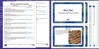 EYFS New Year Discovery Sack Plan and Resource Pack - eyfs, new years, discovery, sack