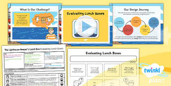 PlanIt - DT KS1 - The Lighthouse Keeper's Lunch Box Lesson 2: Evaluating Lunchboxes Lesson Pack
