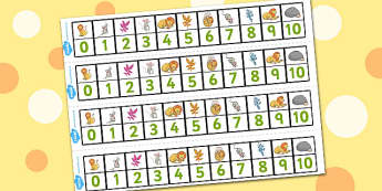 The Lion And The Mouse Number Track 0-10 - number track, 0-10