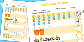 Counting Sheet to Support Teaching on Titch - counting aid, count, maths, stories, books