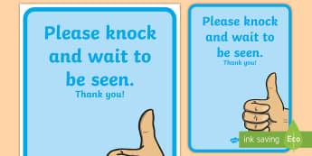 Staff Room Door A4 Display Poster - staff room, staff room door, door, staff, poster, display poster, a4