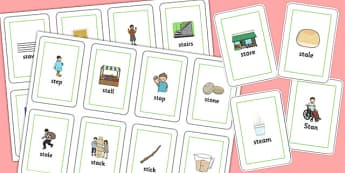 Initial 'st' Blend Flash Cards - initial st, blend, flash cards