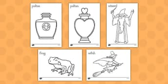 Magic Colouring Sheets - america, magic, coloring, sheets, color, halloween