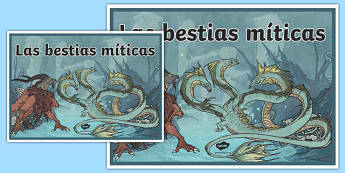 Cartel Las bestias míticas