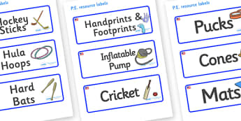 USA Themed Editable PE Resource Labels - Themed PE label, PE equipment, PE, physical education, PE cupboard, PE, physical development, quoits, cones, bats, balls, Resource Label, Editable Labels, KS1 Labels, Foundation Labels, Foundation Stage Labels