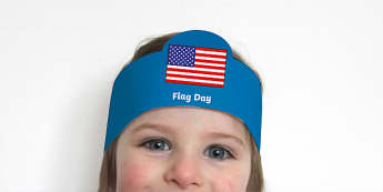 Flag Day Role Play Headbands - Flag Day, American Flag, USA Flag, Celebration, Patriotic, stars and stripes,