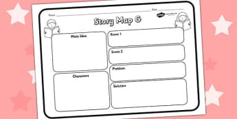 Story Map G Worksheet - story map, stories, worksheet, maps