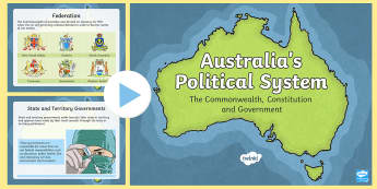 Australia's Political System PowerPoint - separation of powers australia
