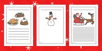 Christmas Writing Frames - christmas, writing frames, themed writing frames, writing guides, writing templates, writing aids, lined guides, lined pages