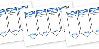 Scottish Bookmarks - Scotland, Scottish, flag, bunting, flags, Bookmark, bookmark template, gift,  present, book, reward, achievement, display, idea, Scottish Highlands