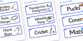 Tadpoles Themed Editable PE Resource Labels - Themed PE label, PE equipment, PE, physical education, PE cupboard, PE, physical development, quoits, cones, bats, balls, Resource Label, Editable Labels, KS1 Labels, Foundation Labels, Foundation Stage L
