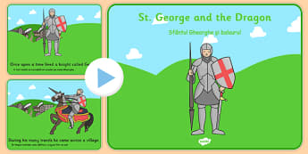 St George's Day Story PowerPoint Romanian Translation - romanian, story, powerpoint, st george