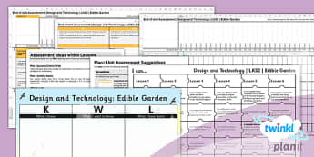 PlanIt - Design and Technology LKS2 - Edible Garden Unit Assessment Pack - planit, assessment, pack