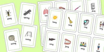 Final 'ng' Sound Playing Cards - final ng, sound, playing cards, cards