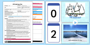 Sorting Winter Clothes EYFS Adult Input Plan and Resource Pack - lesson plan, winter
