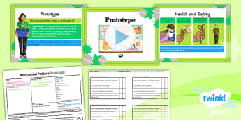 PlanIt - DT LKS2 - Mechanical Posters Lesson 4: Prototypes Lesson Pack - planit, design and technology, Go Green, Eco, recycle, warrior, environment