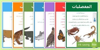 ملصق عرض صور مجموعات  أصناف الحيوان  -  ملصق عرض صور الحيوان- مجموعات أصناف الحيوان, عرض,Arabic