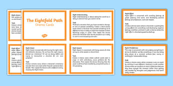 The Eightfold Path Drama Cards