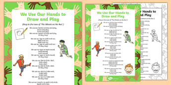 We Use Our Hands to Draw and Play Song