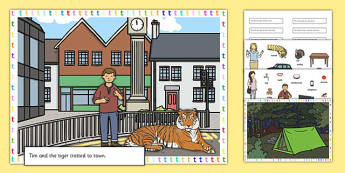 Silly T Sentence Cut and Stick Pictures - silly t, sentence, cut and stick, pictures