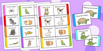 Pets Loop Cards - pets, loop cards, loop, cards, activity, animal