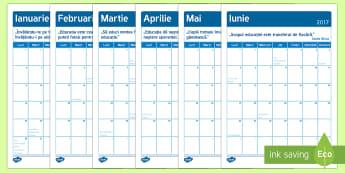 Calendar 2017 cu 12 pagini Romanian - 2017, nou an, anul nou, planificare, română, calendar, materiale,Australia