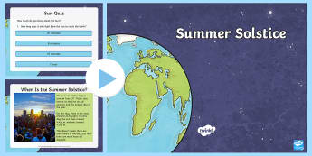 Whole School Summer Solstice Assembly Pack - sun, facts about the sun, KS1, KS2, celebrations