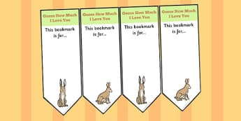 How Much Do I Love You Editable Bookmarks - Love, You, Bookmarks