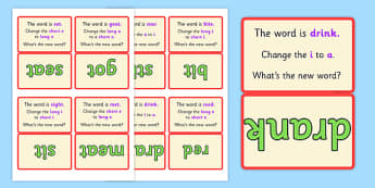 Vowel Manipulation Script Cards Medial Set 2 - vowel, cards, 2