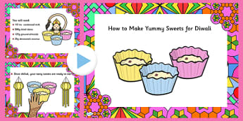 Easy Diwali Sweet Recipe PowerPoint - easy recipe, diwali sweet recipe, diwali, diwali powerpoint, powerpoint, easy sweet recipe powerpoint, diwali recipe