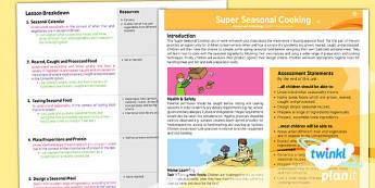 PlanIt - Design and Technology UKS2 - Super Seasonal Cooking Planning Overview