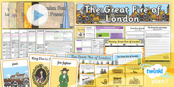PlanIt - History KS1 - The Great Fire of London Unit Pack Flipchart