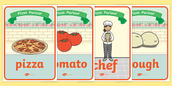 Pizza Parlour Role Play Posters