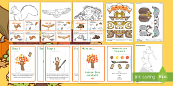 Autumn Crafts Resource Pack - Craft Ideas, Autumn, Elderly Care, Care Homes, Activity coordinators