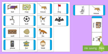 EYFS Rhyming Loop Cards - Phase 1, Aspect 4, Rhythm, Rhyme, letters and sounds, phonics, dominoes, match, rhyming words