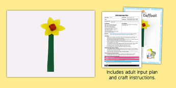 Egg Box Daffodil Craft EYFS Adult Input Plan and Resource Pack - adult led, focus