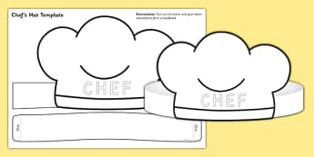 Chef Hat Template - chef hat, template, role play, chef, hat, chef hat role play