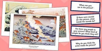 Hokusai Photo Pack and Prompt Questions - hokusai, photo, prompt