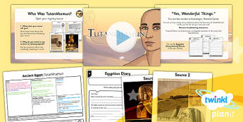 PlanIt - History LKS2 - Ancient Egypt Lesson 4: Tutankhamun Lesson Pack