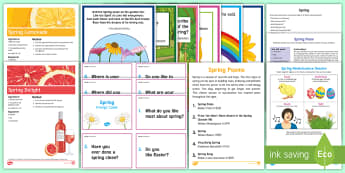 Spring Resource Pack - Spring, Easter, Care Homes, Elderly Care, Ideas, Support, Activity Co-ordinators, Season,