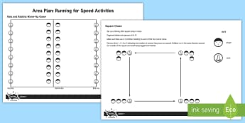 KS2 Running for Speed Activities Adult Guidance - PE, physical education, running, running games, sprinting, sprint, reaction game