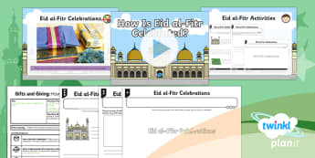 PlanIt - RE Year 1 - Gifts and Giving Lesson 5: How is Eid al-Fitr Celebrated? Lesson Pack - Eid al-Fitr celebrations