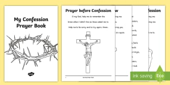 Roman Catholic Confession Prayer Book Print-Out - prayer book, prayers, Confession, Penance, print out, Roman Catholic, prayer book,Irish