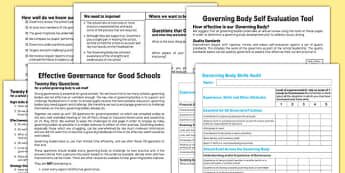 Governing Body Evaluation Pack - governing, body, evaluation